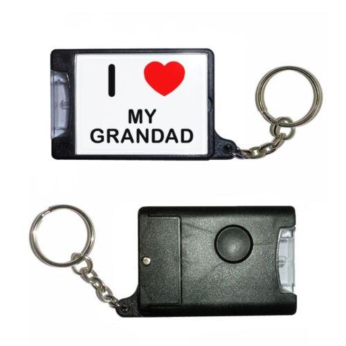 Black Torch Key Ring I Love My Grandad