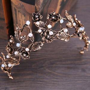 Bridal-Crown-Wedding-Prom-Tiara-Jewelry-Bride-Leaves-Rhinestone-Hair-Accessories