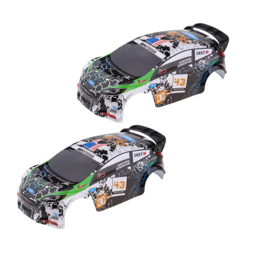 2pcs RC Car Body Shell Cover for WLtoys K989 1//28 Rally Vehicle DIY Accs