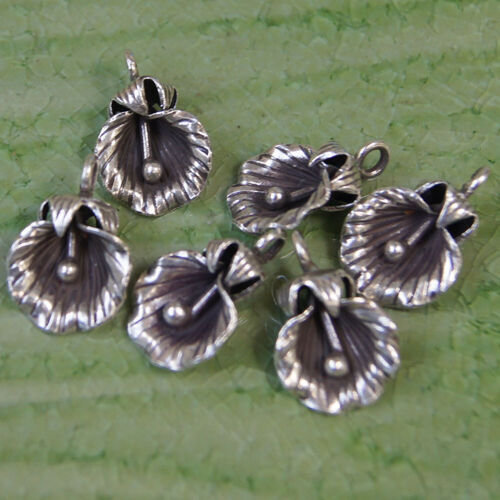 One pair Karen hill tribe Handmade pure silver