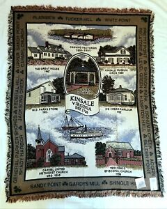 """Simply Home Historic Kinsale Virginia Cotton Tapestry Throw Blanket 64"""" x 50"""""""