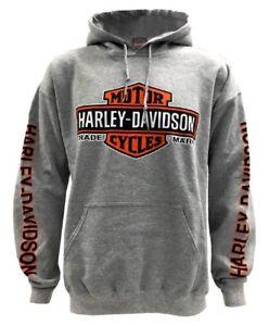 Harley-Davidson-Men-039-s-Bar-amp-Shield-Logo-Pullover-Hooded-Sweatshirt-30299144