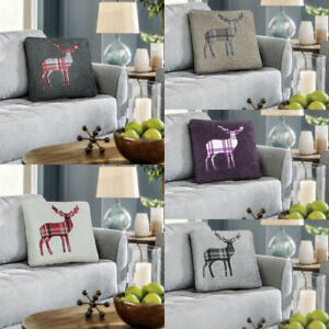 Details About Teddy Fleece Stag Cushion Covers Sofa Pillows Bed Pillow Car Solid Color