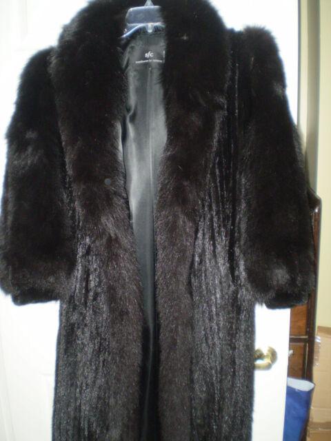 SALE! Women's Mink and Fox Full length coat-worn twice!   Size Sm.