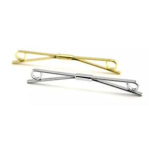 Camisa Para Hombre Corbata Corbata Pin 5 cm Barra de plata oro Collar Clip Broche muchachos Regalo UK