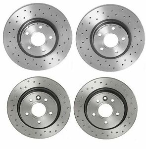 Front 300 mm Brake Disc Rotors And Ceramic Pads For Volvo C70 S40 V50 C30