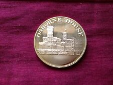 Queen Victoria Osborne House 22ct Gold Plated Medallion In Case
