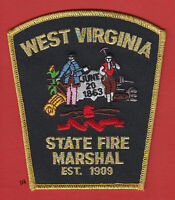 West Virginia State Fire Marshal Shoulder Patch