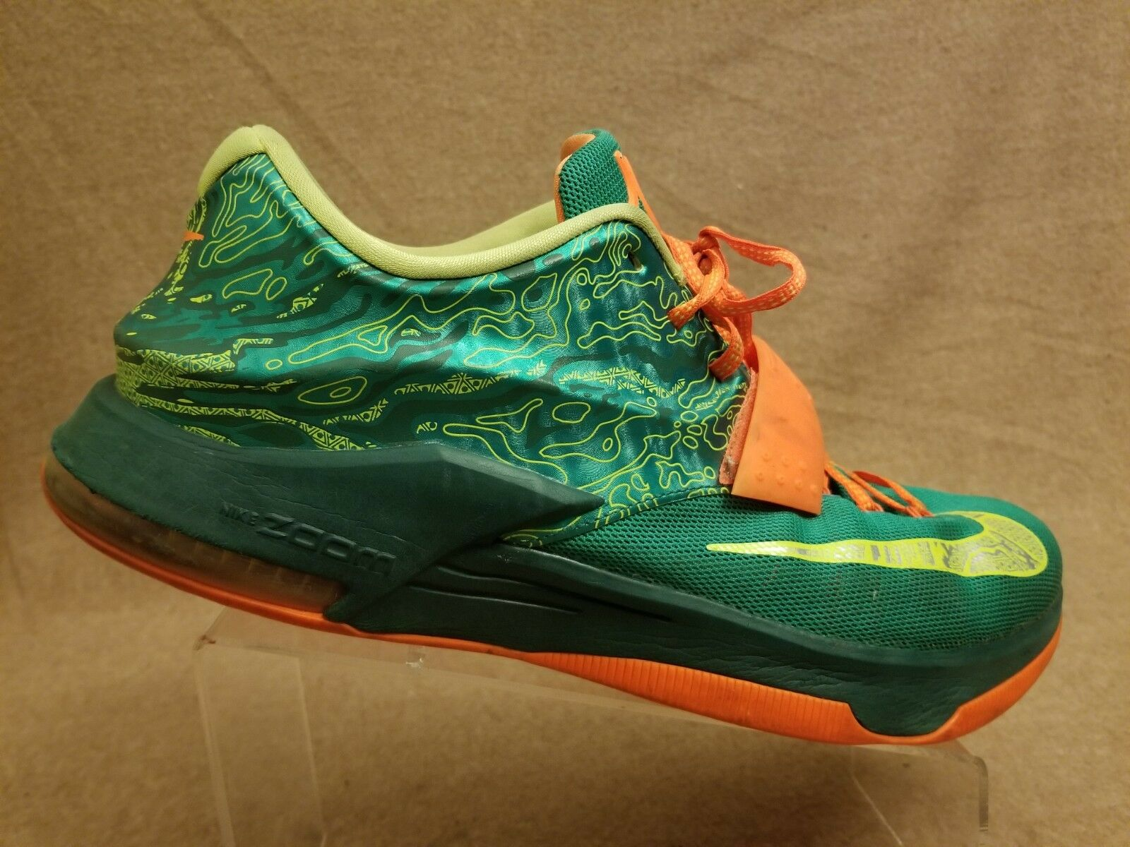 c54443963d57ce Nike 653996-303 KD 7 Kevin Durant Men Weatherman Emerald Green Basketball  Sz 14