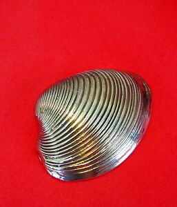 Lost-Wax-Cast-Bronze-034-Clam-Shell-034-Mollusk-Decorative-Sculpture