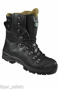 26193648f88 Details about Rock Fall RF328 Chatsworth Black Chainsaw Boots Kevlar Steel  Toe Cap Safety Boot