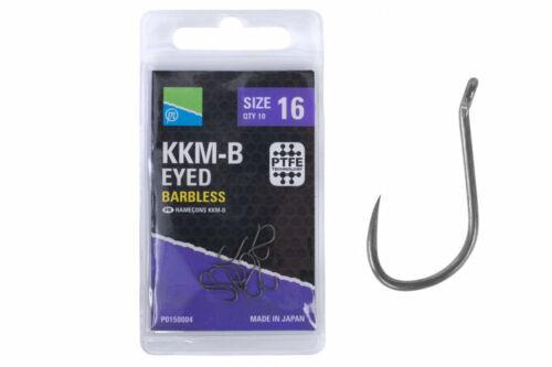 Preston KKM-B Eyed Barbless Hooks All Sizes