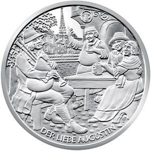 Osterreich-10-Euro-2011-Der-liebe-Augustin-Silber-Handgehoben