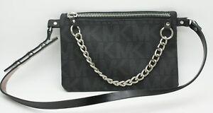 32fb7163aa8c MICHAEL Michael Kors Signature MK Logo Leather Belt Bag Fanny Pack ...