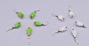 10-x-Weihnachtsbaum-Charme-Anhaenger-Weihnachten-Tannenbaum-Geschenk-Deko-Auswahl