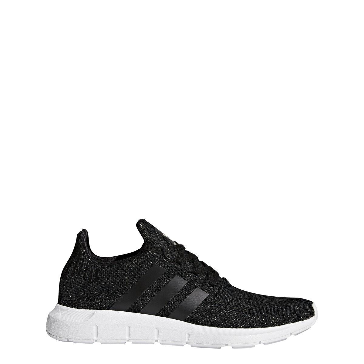 Adidas Swift Run CQ2018 CBLACK,CBLACK,White Womens Size 6.5