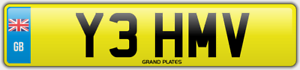 MV-Number-plate-INITIALS-Y3-HMV-CHERISHED-REGISTRATION-YEH-ROAD-LEGAL-CAR-REG