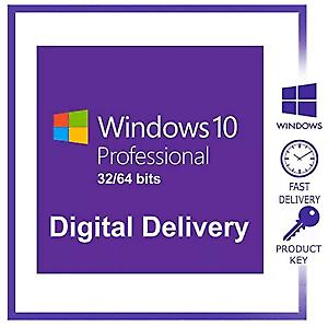 Microsoft Windows 10 Professional 32/64 bit Genuine License Key delivery