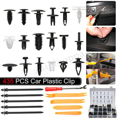435pcs Car Body Retainer Push Type Pin Rivet Clip Trim Panel Moulding Assortment
