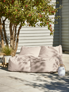 Cox & Cox Indoor / Outdoor Modern Soft Blush 2 Seater Double Beanbag - RRP £295