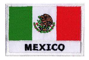 Ecusson Patche Drapeau Pays Patch Mexique Mexico 70 X 45 Mm Brodé à
