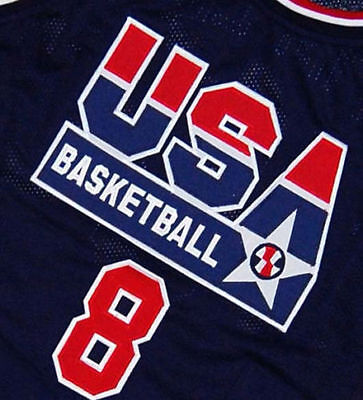 SCOTTIE PIPPEN #8 Jersey TEAM USA JERSEY WHITE  SEWN  NEW ANY SIZE