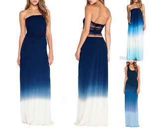 buy popular 902e6 21741 Dettagli su Vestiti Lunghi Donna Blu - Mare - Casual - Blue Woman Maxi  Dresses 110088-90-91