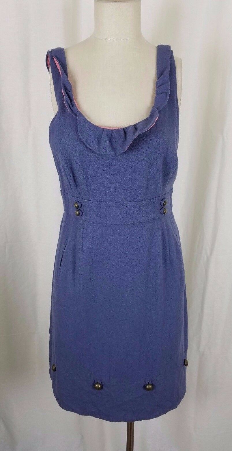 Anthropologie Moulinette Soeurs Familiar Orte Wolle Lavendel Blaues Kleid 12