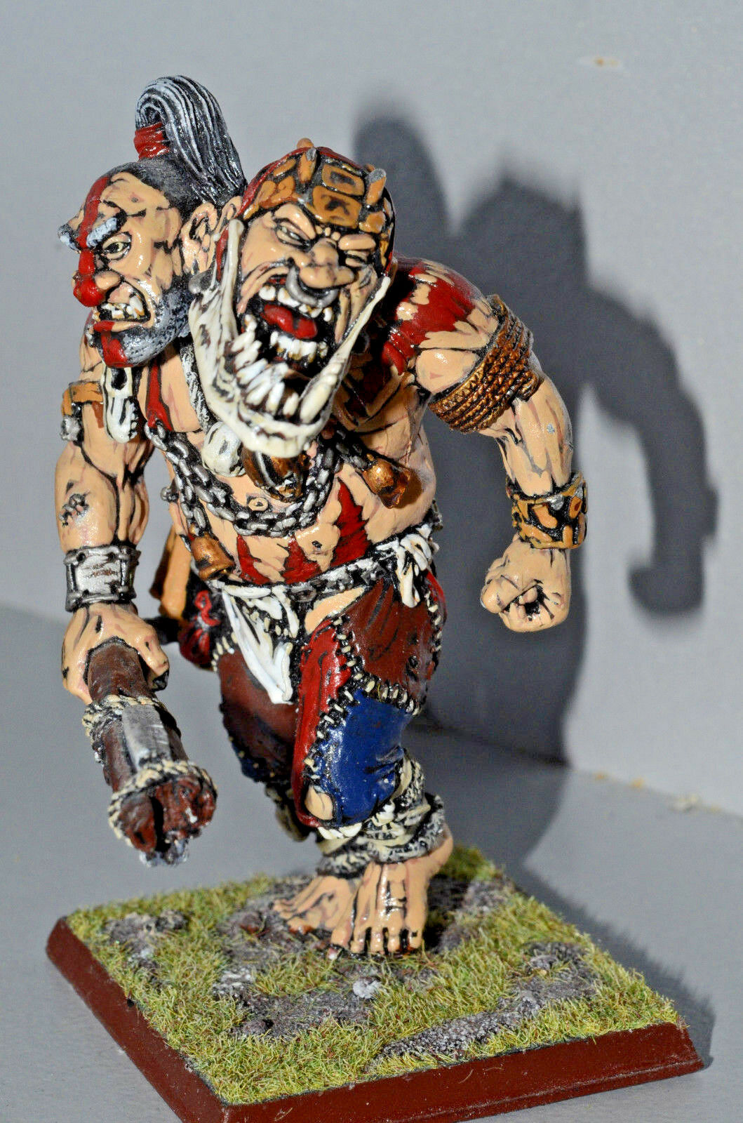 WARHAMMER GEANT GIANT GIANT GIANT CONVERSION CHAOS METAL SOCLE AIMANTE PEINT PRO PAINTED 3ec