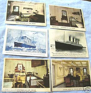 6-RMS-TITANIC-Card-Photos-Vintage-Antique-Old-Ship-Retro-Boat-Art-Illustration