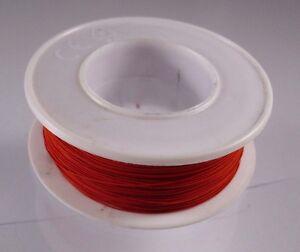 HF-Draht-Kupfer-mit-HF-Seide-umsponnen-gut-loetbar-0-3-mm-Beige-oder-Rot