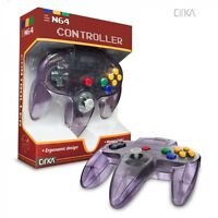 Atomic Clear Purple Cirka Controller Pad Gamepad For N64 Nintendo 64