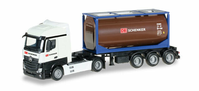 "Herpa 306911MB Actros Streamspace 2.5 Tankcontainer-Sz"" DB Schenker "", 1:87"