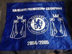 CHELSEA  FOOTBALL FLAG PREMIER LEAGUE CHAMPIONS 2004 2005 Vintage CFC * SALE *