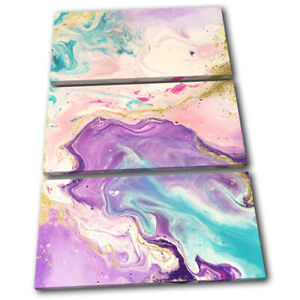 Watercolour-Marble-Abstract-Fashion-TREBLE-CANVAS-WALL-ART-Picture-Print