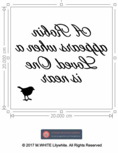 Un Robin apparaît quand un être aimé est quasi-Vinyl Sticker Pour Cadre Photo