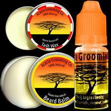 Acacia Grooming Co. | Beard Oil + Balm +Tash Wax | 10ml Lake 15ml Tana Marrakesh