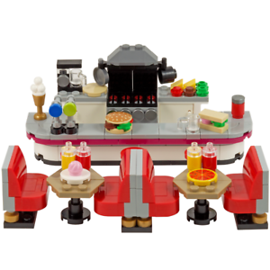 Fast-Food Restaurant /& Seats KItchen//diner//burger bar cafe LEGO Diner