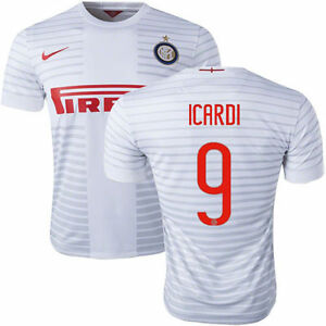 new product 7ac31 9d7c6 Details about NIKE MAURO ICARDI INTER MILAN AWAY JERSEY 2014/15