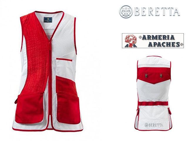 Gilet da tiro BERETTA - Man's Trap Vest No Olimpic rosso e bianco