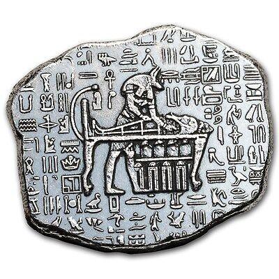 Old World Egyptian God Jackal Anubis 1 oz .999 Fine Silver Relic Bar