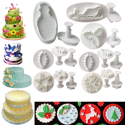 36 Cookie Fondant Cake Sugarcraft Plunger Icing Cake Decorating Cutter Mold