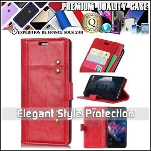 Etui-Coque-Housse-Cuir-PU-Leather-RIVET-Wallet-Case-Cover-Motorola-Moto-G7-Power