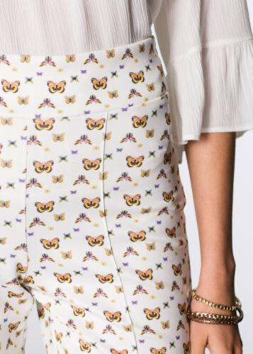 Bodyflirt Damen Hose Schmetterling-Print Alloverdruck wollweiss Gr 36//38 923686