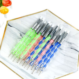 5-X-2-Way-Pottery-Clay-Ball-Styluses-Nail-Art-Tool-Polymer-Clay-Sculpture-Tools