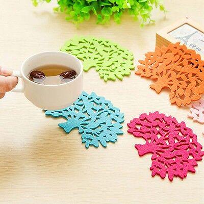 Hot Cup Pad Felt Tree Coaster Mat Mug Plate Table Decoration Gift Wholesale Bulk