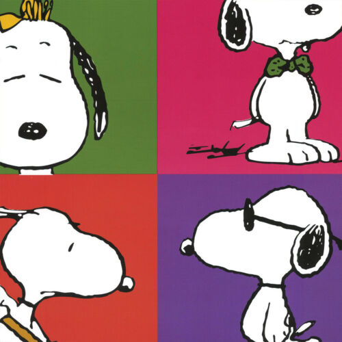"""SNOOPY CHARLIE BROWN LINUS LUCY CANVAS 27W/""""x40H/"""" PEANUTS GANG by CHARLES SCHULZ"""