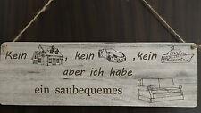 Türschild DekoSchild Landhaus Vintage Shabby Retro Kein Haus -  bequemes Sofa 2