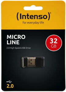 Intenso USB Stick 32GB Speicherstick Micro Line Mini