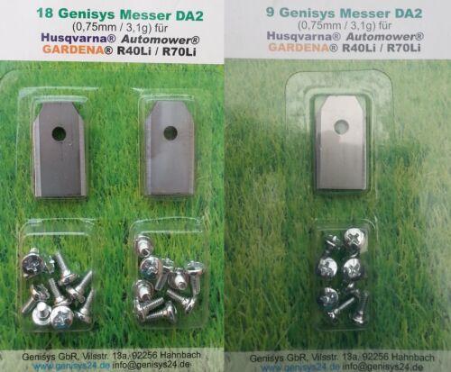 60+3 EXTRA DICKE Edelstahl-Messer Husqvarna AUTOMOWER 305 308 310 315 320 330*